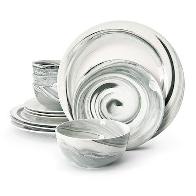Divitis FUSION 12 Piece Porcelain Dinnerware Set