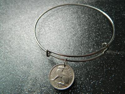 Irish 1948 Bunny Coin Bracelet