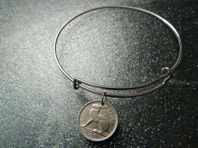 Irish 1948 Bunny Coin Bracelet