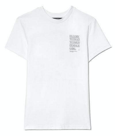 Ellery International Women's Day printed cotton-jersey T-shirt