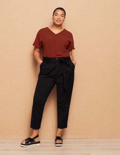 Danielle Vanier Cotton Paperbag Trousers