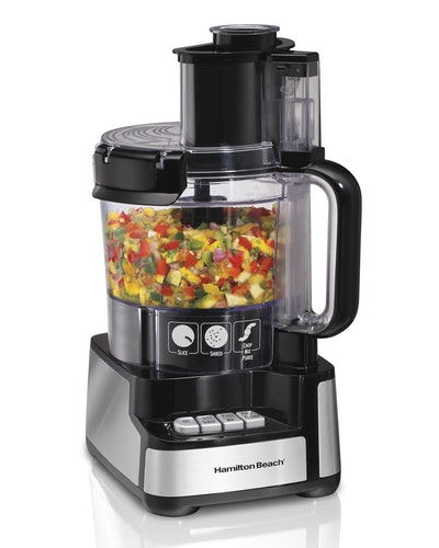Hamilton Beach 12-Cup Stack & Snap Food Processor and Vegetable Chopper Black