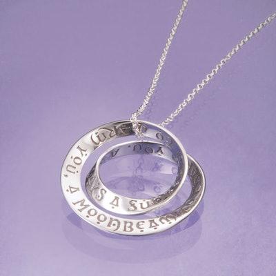 Irish Blessing Mobius Necklace