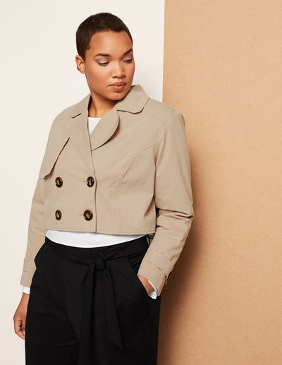 Danielle Vanier Cropped Classic Trench