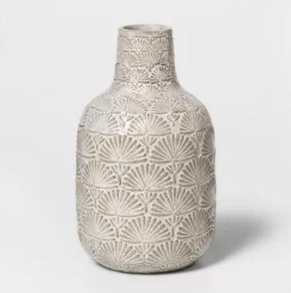 Stoneware Matte Vase White