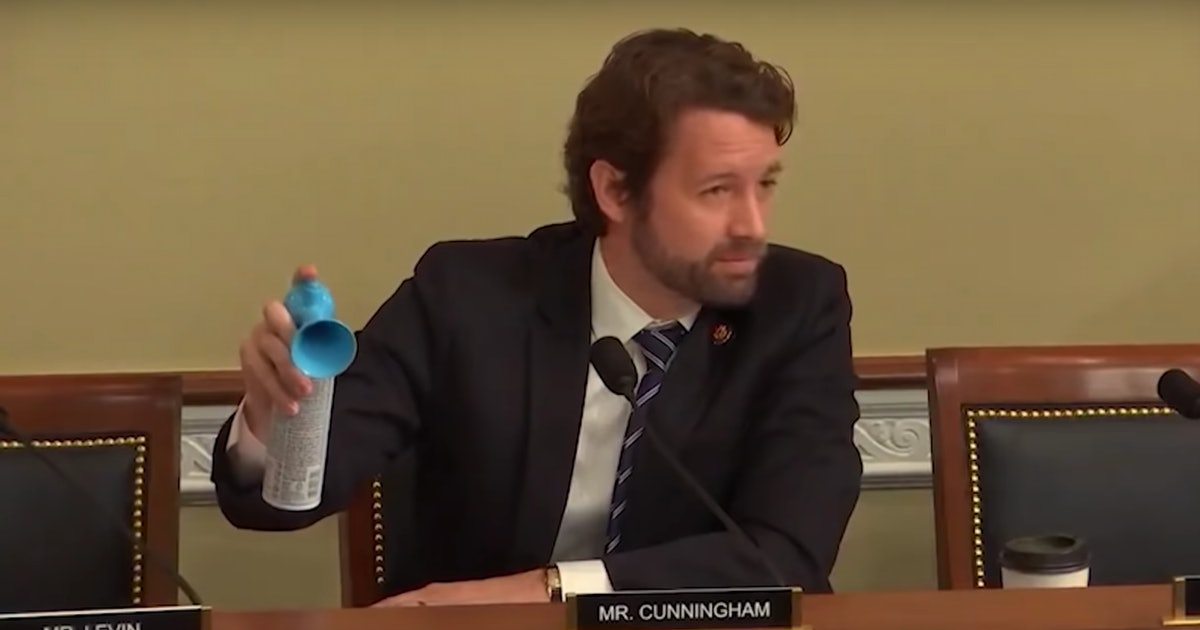 Joe Cunningham Blew An Air Horn At A Trump Official Who Said Seismic Tests Don't Harm Whales