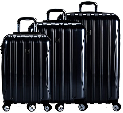 DELSEY Paris Delsey Luggage Helium Aero 3 Piece Spinner Luggage Set
