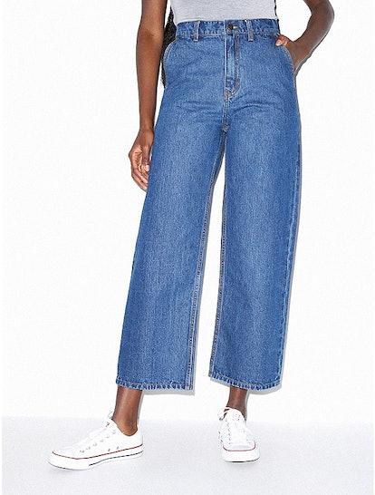 "Crop Wide Leg Jean in ""Medium"""