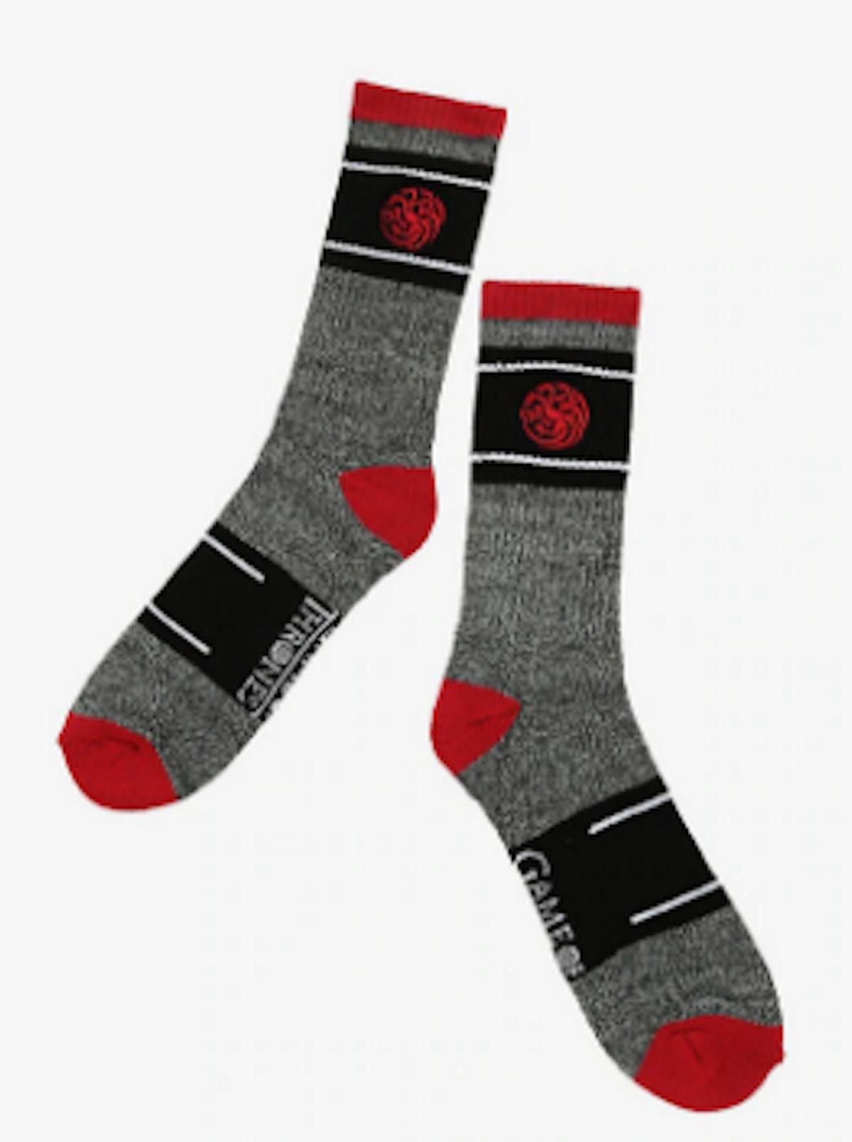 'Game Of Thrones' House Targaryen Embroidered Socks