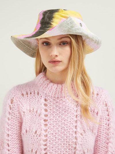 Shiloh Tie Dye-Effect Cotton Bucket Hat