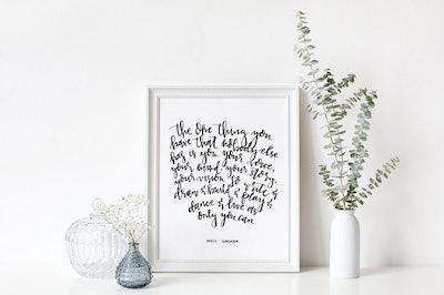 Hand-lettered Neil Gaiman Print
