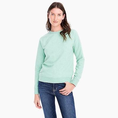 Crewneck Sweatshirt In Speckled Mint