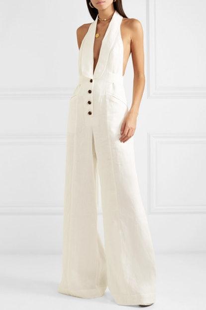 Corsage Linen Jumpsuit