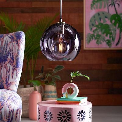 Purple Glass Pendant Light