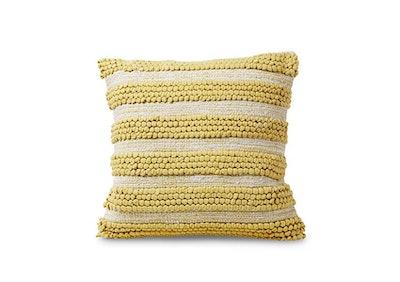 Yellow Cotton Textured Pillow