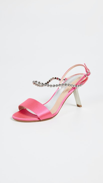 Satin Strass Sandal
