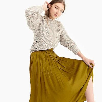 Point Sur Crinkled Maxi Skirt