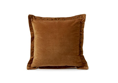 Decorative Rust Velvet Throw Pillow