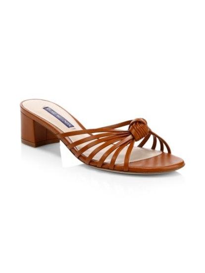 Stuart Weitzman Sidney Leather Sandals