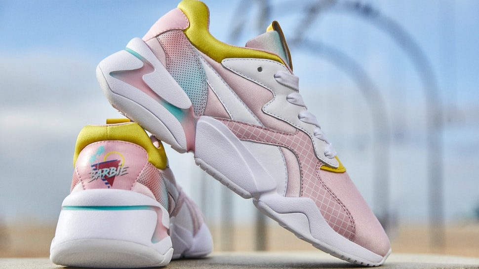 3f91d4a2cd The Puma X Barbie Nova Sneaker Collab Is Every  90s Kid s Dream