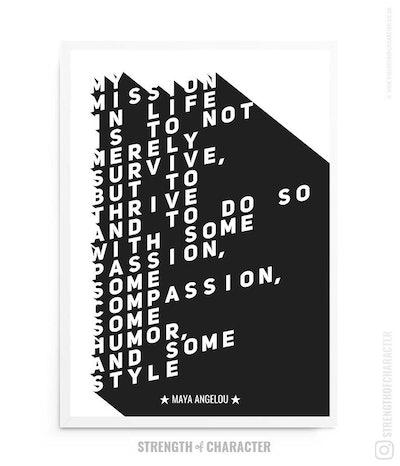 MAYA Angelou, Literary Gift, Book Lover Gift, Maya Angelou Quote, Book Quote Print, Literary Print, Literary Quote, Bookish, Bookish Gifts