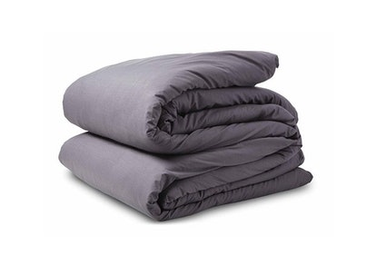 Soft Charcoal Percale Duvet Cover