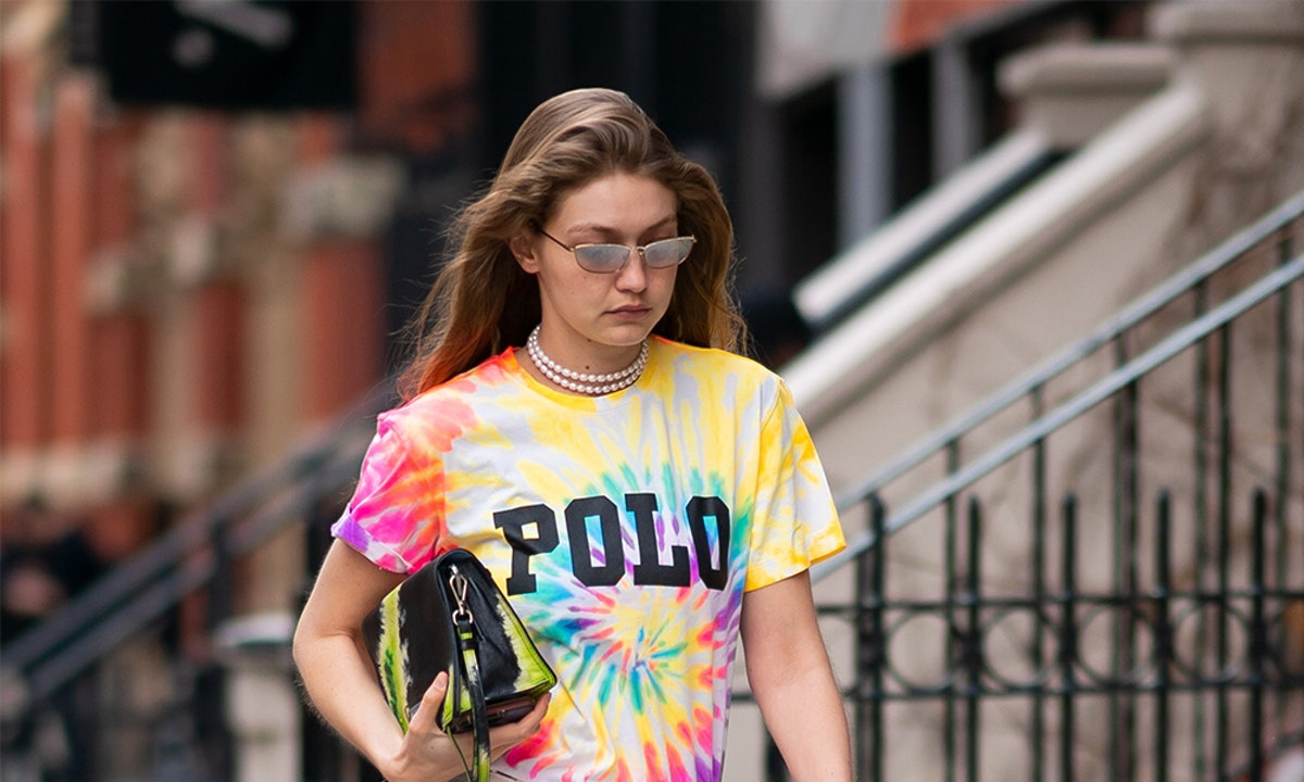 Gigi Hadid's Tie-Dye Shirt & Bag Will Convince You To Go Bold This Spring