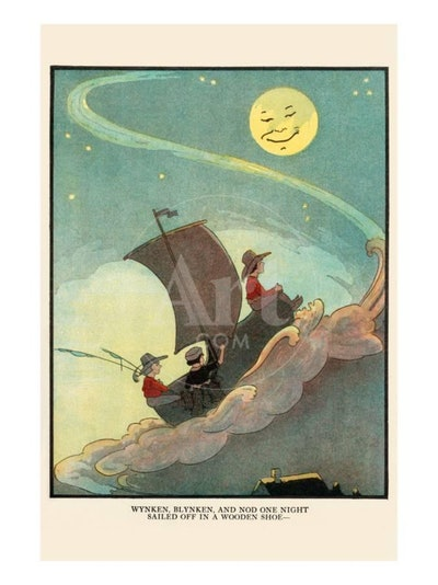 Wynken, Blynken, and Nod Sailed Off In a Wooden Shoe