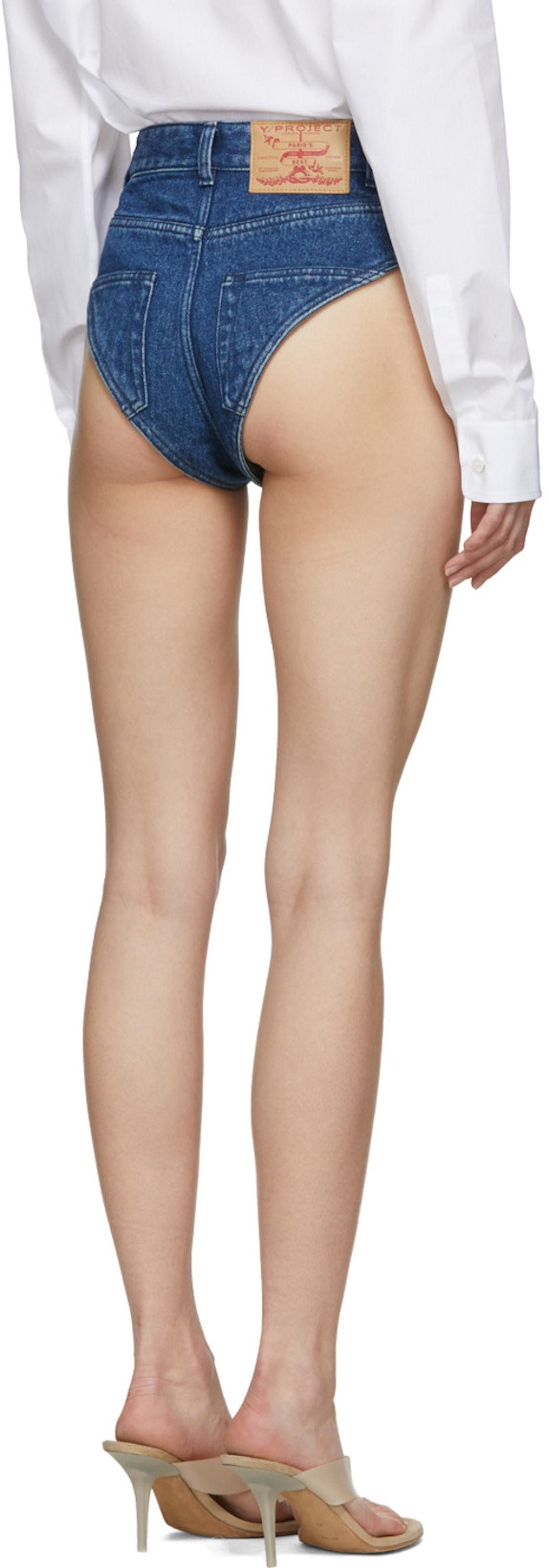 Y/Project  Navy Denim Panties