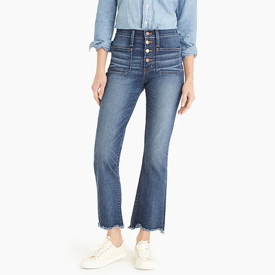 """Point Sur 10"""" High-Rise Demi-Boot Jean With Button Fly"""