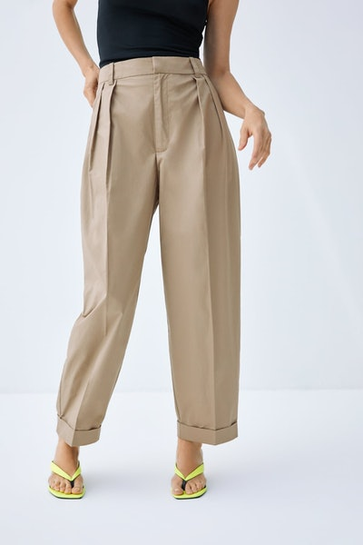 Poplin Pants with Darts
