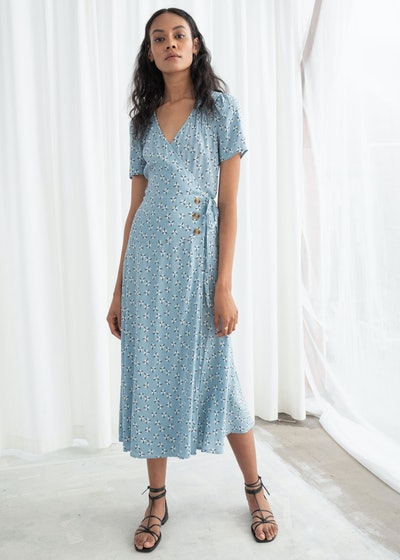 Flowy Wrap Midi Dress
