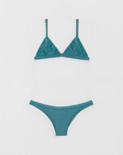 Blue Topaz Taping Triangle Bikini