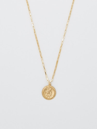 St. Christopher Box Chain Necklace