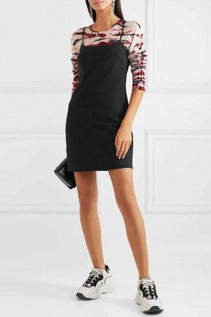 Stretch-Wool Mini Dress