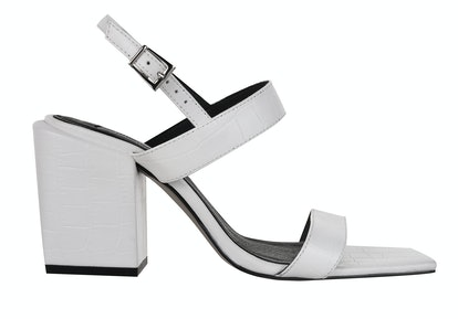 ROXIE Vegan White Block Heels