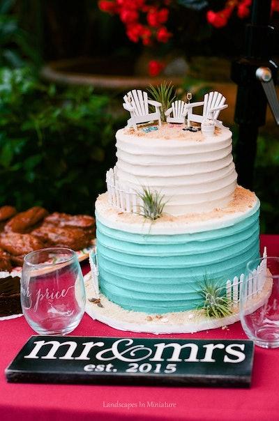 Beach Theme Wedding Cake Topper