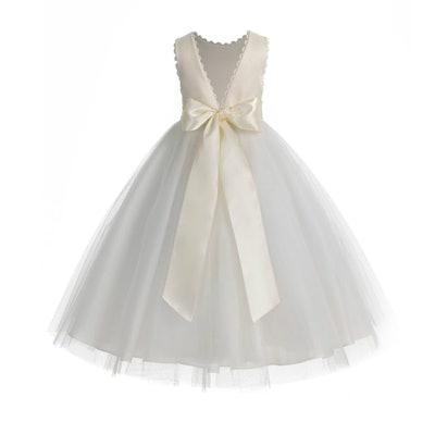 V-Back Flower Girl Dress