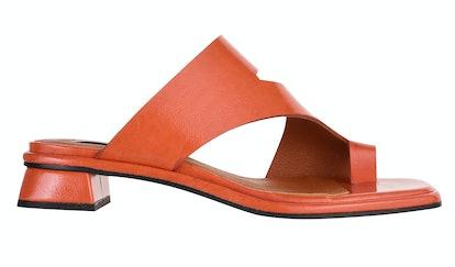 NOAH Vegan Orange Low Toe Loop Sandals
