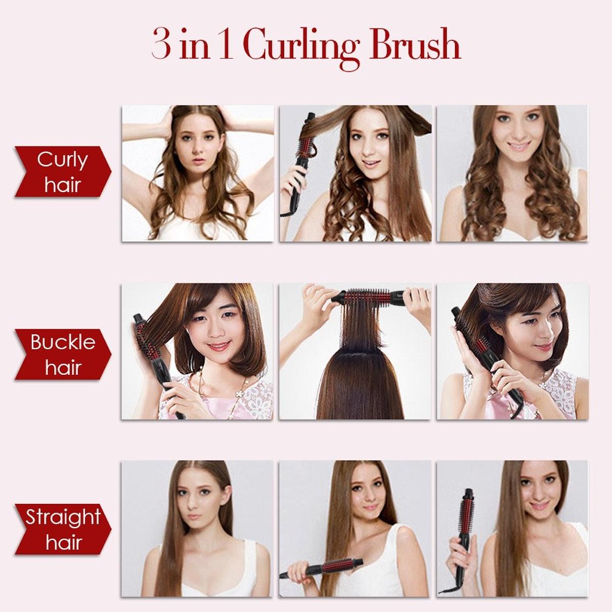 SwanMyst Curling Iron Brush