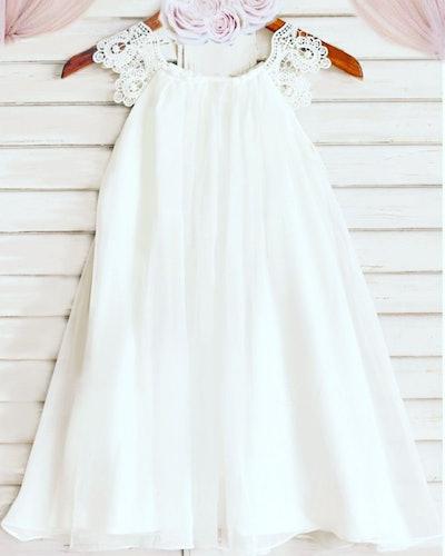 Tea-Length Flower Girl Dress