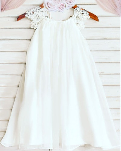 Tea-Length Flower Girl Dress