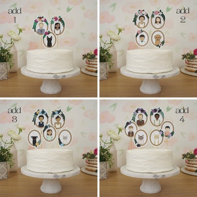 Frames Wedding Cake Topper