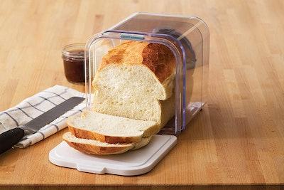 Progressive International Bread ProKeeperhttps://www.amazon.com/gp/product/B016MZZXBM?ie=UTF8&tag=bustle-17025073-20&camp=1789&linkCode=xm2&creativeASIN=B016MZZXBM