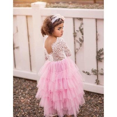 Dusty Rose Flower Girl Dress