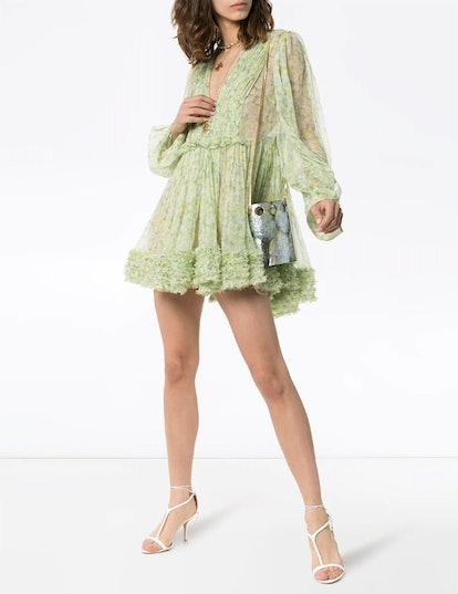 Ruffled Mini-Dress