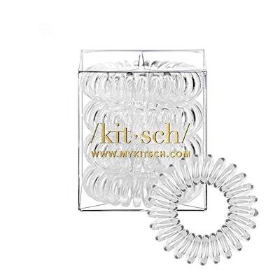 Kitsch Spiral Hair Ties (4 Ties)
