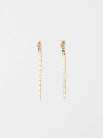 Mika Diamond Line Earrings