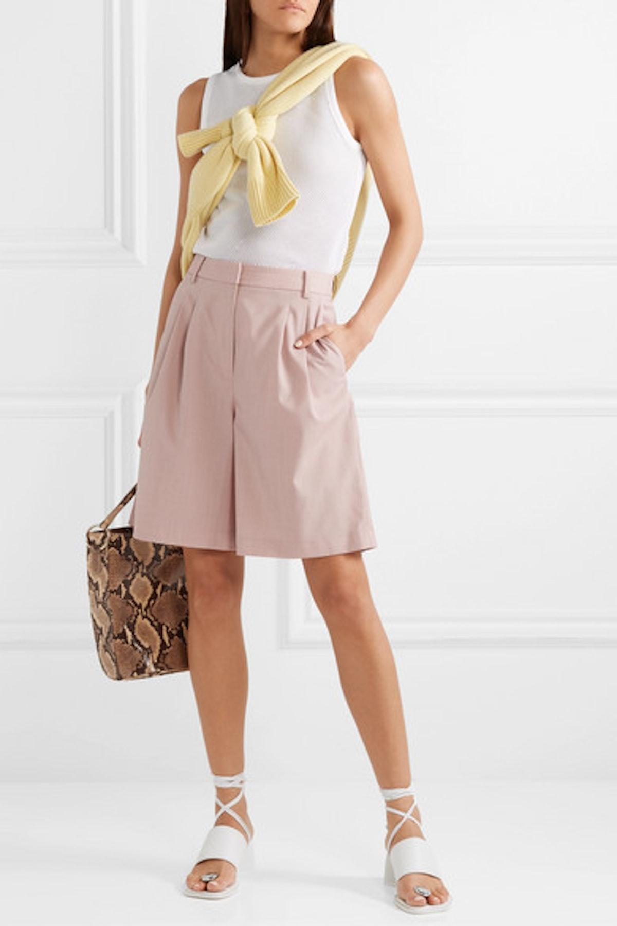 Wool-Blend Shorts