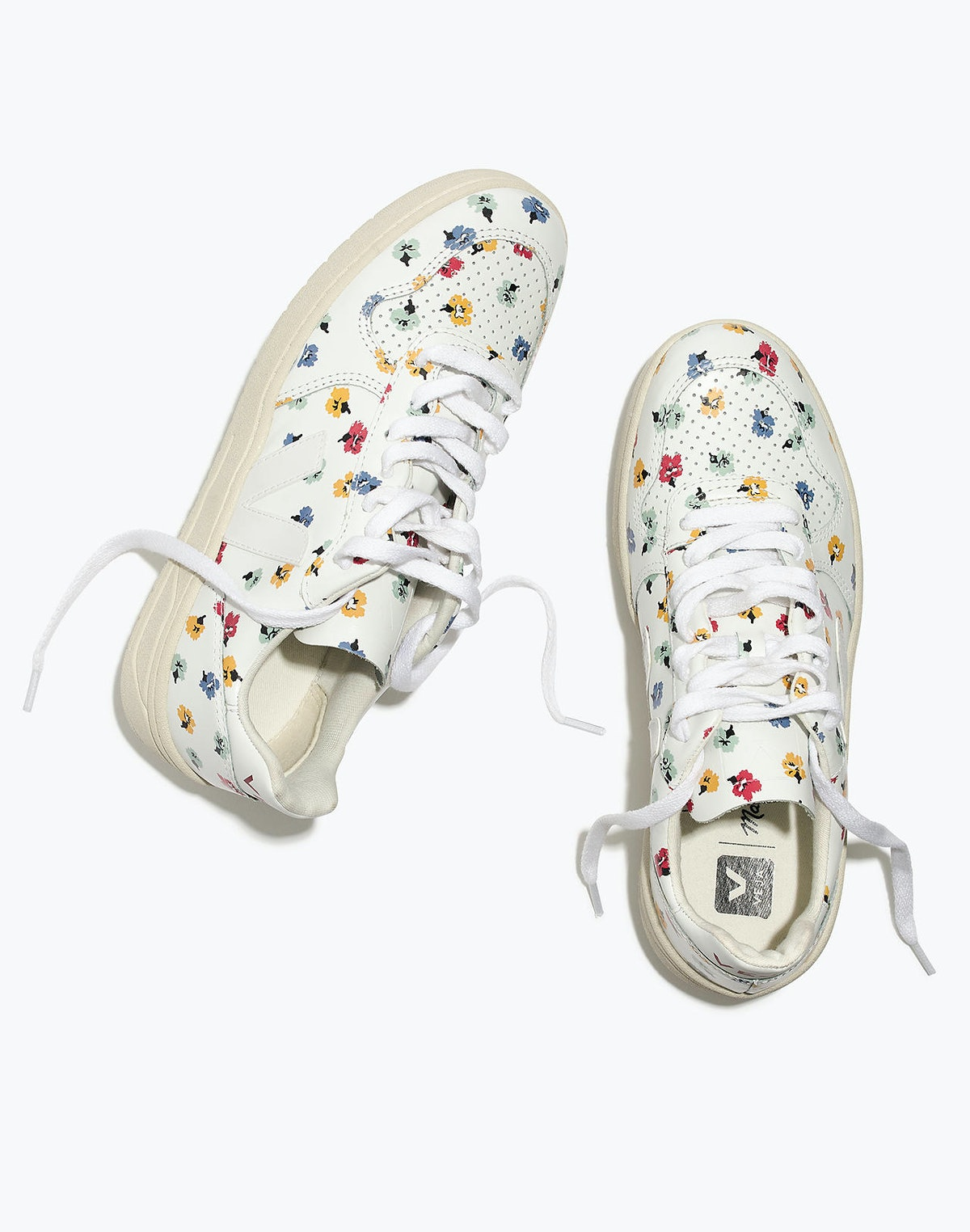 Madewell x Veja™ V-10 Leather Sneakers in Confetti Floral